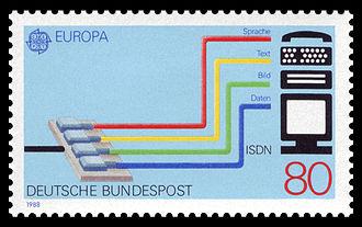 Briefmarke ISDN